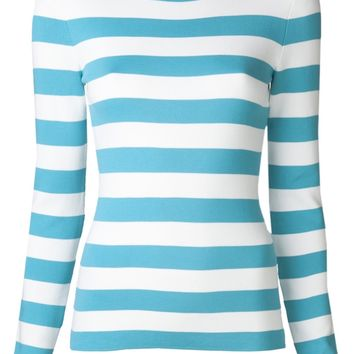 Michael Kors Striped Crew Neck Sweater