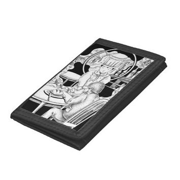 Memorable restaurant tri-fold wallet