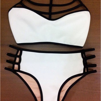 2016 New Fashion Women Summer High Waist Multi Rope Bikini Swimwear [9807604367]