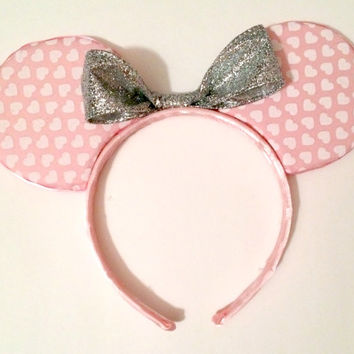Custom Heart Minnie Mouse Ears