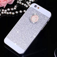 "Goprocell Beauty Luxury Diamond Hybrid Glitter Bling Hard Shiny Sparkling with Crystal Rhinestone Cover Case for Apple Iphone 6 6s 4.7"" 6plus 6s Plus 5.5"" (6 6s 4.7"" Silver)"