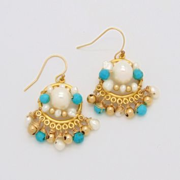Marrakech Earrings: 14K Gold-filled