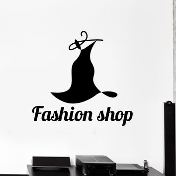 Vinyl Wall Decal Fashion Shop Dress Clothes Women Style Stickers Mural Unique Gift (ig5028)
