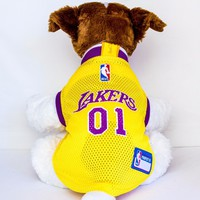 Los Angeles Lakers Dog Jersey NBA Basketball Officially Licensed Pet Product