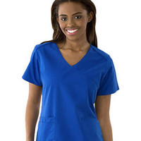 Dickies Womens Soft Mock Wrap Solid Scrub Top