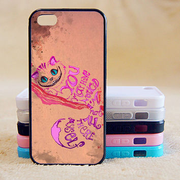 Alice in Wonderland Cheshire Cat, Custom Case, iPhone 4/4s/5/5s/5C, Samsung Galaxy S2/S3/S4/S5/Note 2/3, Htc One S/M7/M8, Moto G/X