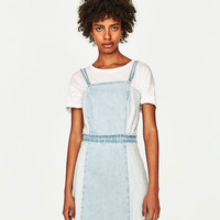DENIM DRESS WITH LACE-UP BACK