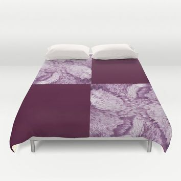 Season of the Square - Symmetry in Magenta Duvet Cover by michael jon