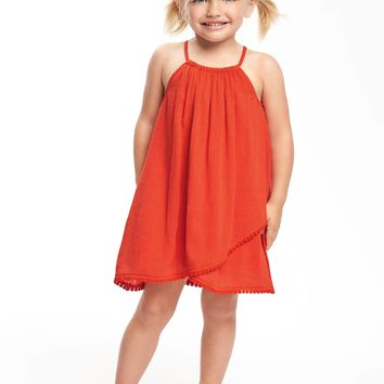 Tulip-Hem Crinkle-Gauze Swing Dress for Toddler | Old Navy