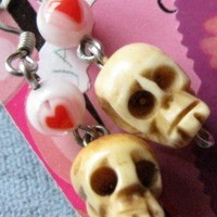 Heart Skull Earrings