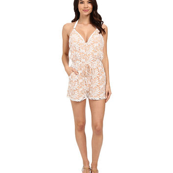 6 Shore Road by Pooja Weekend Lace Romper Cover-Up Moonlight - Zappos.com Free Shipping BOTH Ways