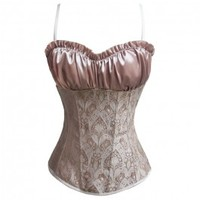 A3502 - Nude Corset with Paisley Design