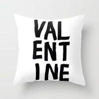 valentine Throw Pillow by Her Art