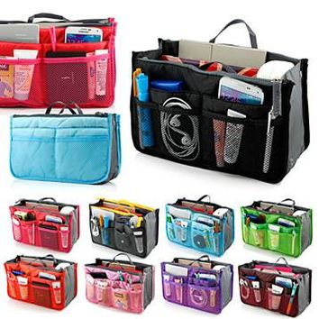 Collapsible Purse Organizer Women Lady Travel Insert Handbag