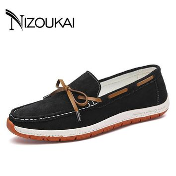 2017 Fashion Boat shoes Summer Style Soft Moccasins Men Loafers High Quality Genuine L