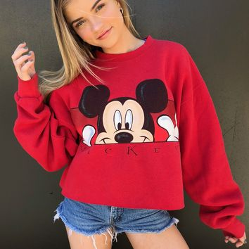 Oh Mickey You're So Fine Cropped Sweatshirt