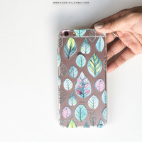 Leaves - Clear TPU Case Cover