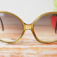 Vintage Christian Dior Sunglasses Over sized Honey tone 1970's Made in Germany Cheap