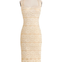 Sophisticated Soiree Dress in Champagne | Mod Retro Vintage Dresses | ModCloth.com