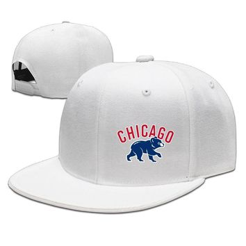 Chicago Cubs Flag Printing Unisex Adult Womens Baseball Hats Mens Fitted Hats