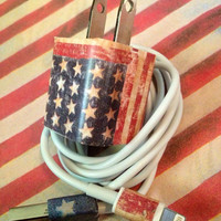 iphone 5/6 charger American flag USA