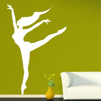 Vinyl Decal Wall Sticker Dance Ballerina in a Pose Arabesque Ballet Decor Unique Gift (n797)