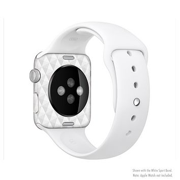 The White Studded Seamless Pattern Full-Body Skin Set for the Apple Watch