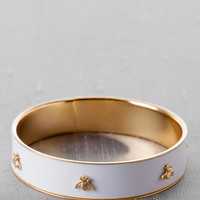 Bastrop Bee Bangle in White