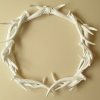 Antlers, Wreath, Deer Head, Antler Wreath, Antler Decor, Wall Decor, Deer Antler Decor