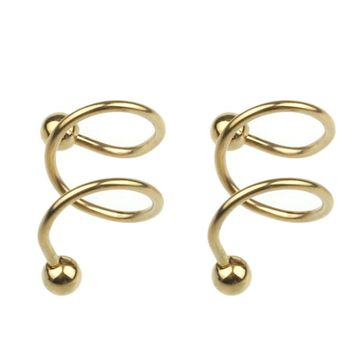 Stainless Steel  Spiral Helix Ear Stud  Nose Ring Cartilage Piercing