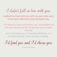 I'd choose you 4 #quotes #love #minimalism by Andrea Anderegg Photography