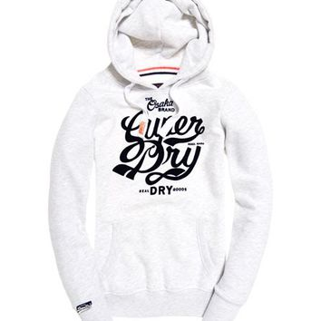 Womens - Osaka Brand Hoodie in Ice Marl | Superdry