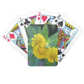 Yellow Flowers Photo Bicycle Playing Cards