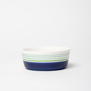Skinny Dip Ceramic Dog Bowl Navy
