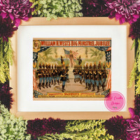 50% Off Sale-Vintage Wall Art Vintage Band Printables Civil War Band  Wall Prints Retro Afro Wall Art  Emphera Art  Vintage Home Decor Print