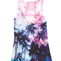 Tie-Dye Palm Trees Tank - Multi