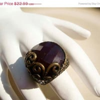 Spring Fashion Sale Vintage Victorian style large Red Carnelian ring size 5