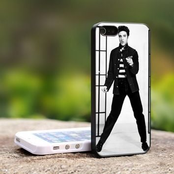 elvis presley dance am - For iPhone 5 Black Case Cover