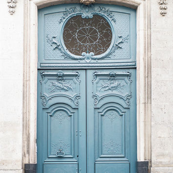 Paris Photography - The Blue Doors, Les Portes Bleue, Set of Two, Architectural Paris Photograph, French Home Decor, Large Wall Art