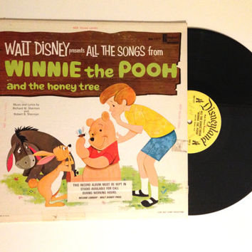 Vinyl Record Walt Disney Presents All The Songs From Winnie The Pooh And The Honey Tree LP Album