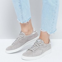 Diadora Game Low Sneakers In Gray Suede at asos.com