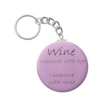 Funny wine quote unique birthday gifts keychains from Zazzle.com