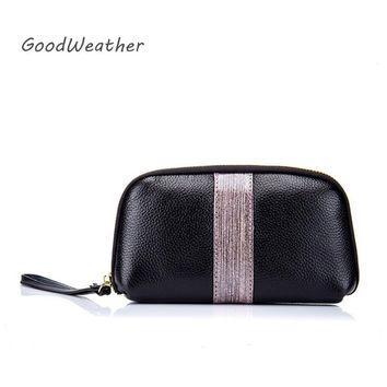 Designer luxury black clutch purse high quality genuine leather wristlet bag for party fashion women evening bags 5colors