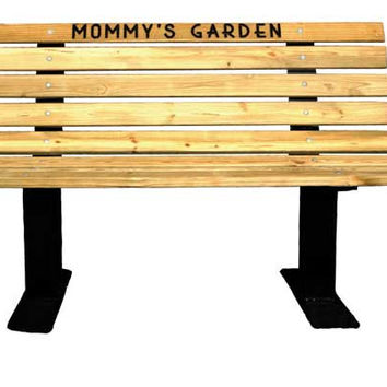 Planet Playgrounds Pine Contour Bench