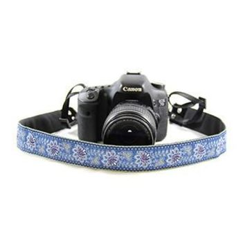 Bandana Blue 1.5In Camera Strap - Capturing Couture - CASLR15-BDBL