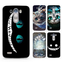 Alice in Wonderland Cheshire Cat White Case Cover Shell Coque for LG G3 G4 G5 G6 V10 V20 K3 K4 K8 K10 2017 Stylus3 LV5