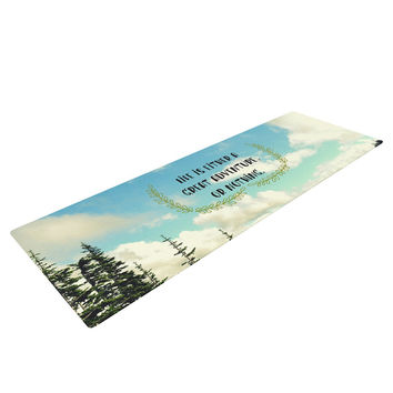 "Robin Dickinson ""Life Is..."" Landscape Typography Yoga Mat"