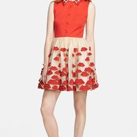 Alice + Olivia 'Pout' Fit & Flare Shirt Dress | Nordstrom
