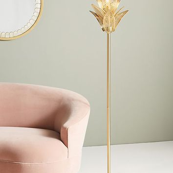 Palm Frond Floor Lamp