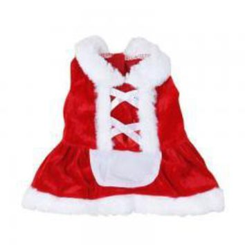 Christmas Dog Clothes Santa Doggy Costumes Clothing Pet Apparel New Design